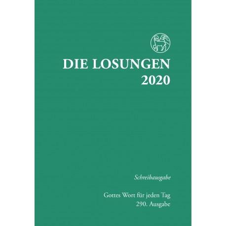 Losungen 2020 - Schreibausgabe (Ausgabe für Deutschland)