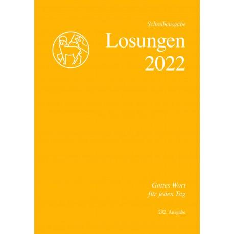 Losungen 2022 - Schreibausgabe