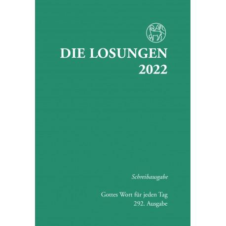 Losungen 2022 - Schreibausgabe (Ausgabe für Deutschland)