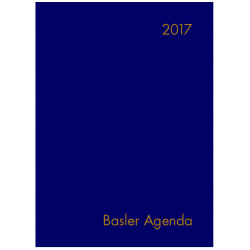 Basler Agenda 2017 (Plastik)