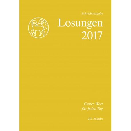Losungen 2017. Schreibausgabe
