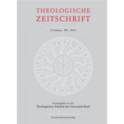 Einzelausgabe: Theologische Zeitschrift