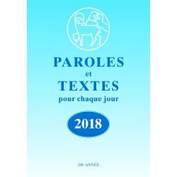 Losungen 2018 - Paroles et Textes