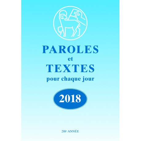 Losungen 2018 - Paroles et Textes