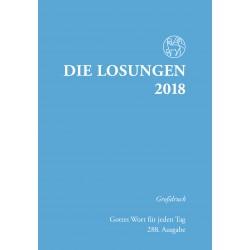 Losungen 2018 - Großdruckausgabe (Ausgabe für Deutschland)