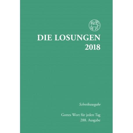 Losungen 2018 - Schreibausgabe (Ausgabe für Deutschland)