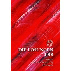 Losungen 2018 - Geschenk-Großdruckausgabe (Ausgabe für Deutschland)
