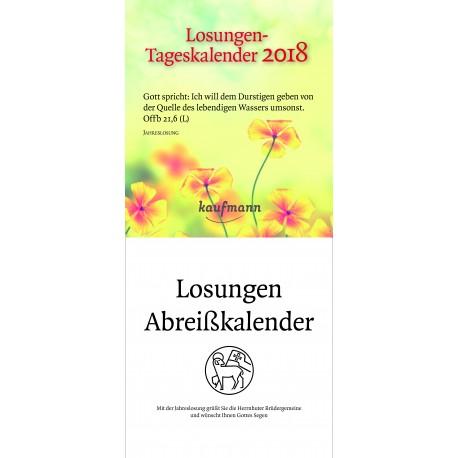 Losungen 2018 - Abreisskalender